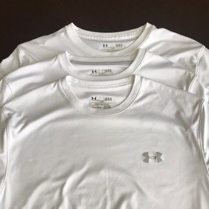 UNDER ARMOUR BUNDLE OF 3 HEATGEAR WHITE T-SHIRTS!!